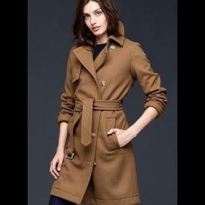 Gap Camel Brown Wool Coat